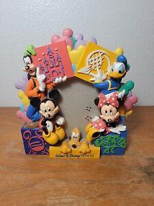 Walt Disney World Picture Photo Frame 4x6 Mickey Goofy Pluto Minnie Donald