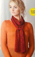 Knitting Pattern femmes Sampler écharpe Diamant Dentelle Accessoire Coq Pattern