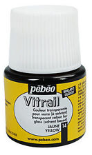 Pebeo Vitrail Stained Glass Effect Paint 45ml Bottle - All TRANSPARENT Colours