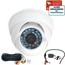 Audio Infrared CCD CCTV Security Camera Outdoor Day Night Vision Wide Angle m3b