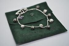 ROBERTO COIN Sterling Silver Toggle Amethyst Bracelet in Pouch