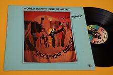 WORLD SAXOPHONE QUARTET LP LIVE ZURICH ORIG JAZZ TOP EX+