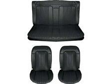 1971 & 1972 Chevelle Standard Seat Upholstery Full Set, Convertible, Black