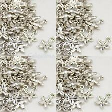 30 x Antique Silver - Flower Charms Daisy Pendants LF NF CF 13.5mm - TS342