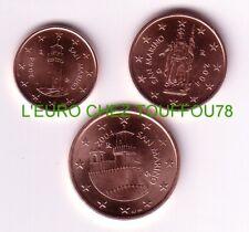 Pièces de 1,2,5cts euros de San Marin 2004.