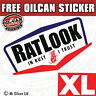 XL RATLOOK in RUST I TRUST car sticker, rat hoodride vw 350 X 190mm SUPERSIZED
