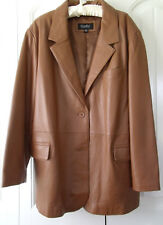 Womens Plus 26 Glove Leather Short Coat Caramel color Excelled Brand Worn Twice