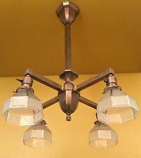 Vintage Lighting circa 1910 Mission brass pendant Rewired