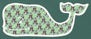 AUTHENTIC VINEYARD VINES CHRISTMAS HOLIDAY BOWS & ANCHORS WHALE STICKER DECAL