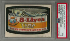 1973 Topps Wacky Packages 8-Lives Tuna Bones 2nd Series White Back PSA 7 NM Card