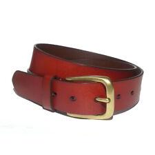 """NORDSTROM Men Dress Leather Belt Size 38 Dark Red 1.25"""" wide"""