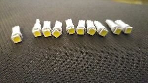10x White SMD LED Dash Wedge Instrument Panel Light Bulb T5 73 74 Fits Pontiac