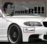 Jeremy Clarkson POWER vinyl decal sticker for all cars