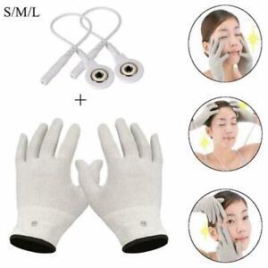 Electro Shock Massage Gloves Electricity Conductive Shock Fiber Gloves H5B0