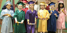 Set Of 10 Children's Nursery Graduation Gowns And Hats 3-6 Years Kids Costume
