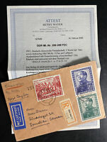 1951 Halle East Germany DDR Cover Mao Tse Tung Set # 82-84 W Certificate