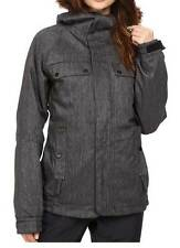 686 Authentic Bae Womens Insulated Snowboard Snow Ski Jacket Black Denim XL