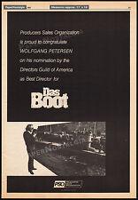 DAS BOOT__Original 1983 Trade AD Academy Award promo / poster__WOLFGANG PETERSEN