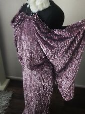 ASOS SEQUIN MAXI VINTAGE KIMONO RED CARPET GATSBY FLAPPER EVENING DRESS GOWN  12