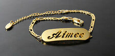 AIMEE - Bracelet With Name - 18ct Yellow Gold Plated - Gifts For Her - Fashion