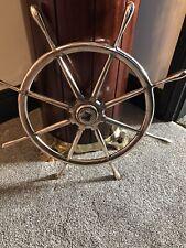 "Vintage 24"" Original Bronze Heavy Ships Wheel Maritime Marine Boat Nautical"