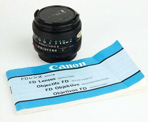 Canon FD 1,8/50mm Canon FD Bajonett für Canon A1 F1 T90 etc. 1101670