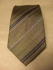 Boys New Non-Branded Olive Green 100% Silk Neck Tie