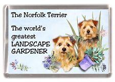 """Norfolk Terrier Dog Fridge Magnet """"Greatest Landscape Gardener"""" by Starprint"""