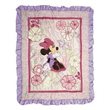 Disney: Minnie Mouse - Purple Butterfly Dreams Quilted Appliqued Comforter