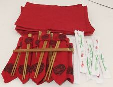 Chinese Restaurant Chopstick Set Placemats, Chopsticks, Napkins