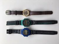Men's quartz watches (3 pieces)