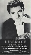 Liberace Elmwood Casino Detroit Mi Black White Advertisement Vintage Advertising