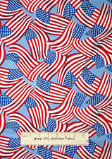American Flag Fabric ~ 100% Cotton By The Yard ~ Timeless Treasures Patriotic