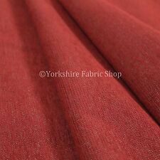 10 Metres Of Soft Luxurious Chenille Heavily Textured Red Upholstery Fabric