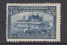 Canada Sc 99 MLH. 1908 5c dark blue Champlain's Home