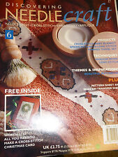 Vintage Discovering needlecraft magazine No 6 by Marshall Cavendish 1993 weekly