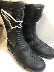 Alpinestars Mens S-MX S Black Textile Motorcycle Riding Street Racing Boots 11.5
