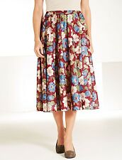Amalina Full Circle Floral Skirt Size 16 BNWT Wine Uk Freepost