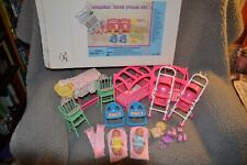 "11 1/2"" Doll Nursery With Twins, Furniture, Accessories, Stroller, Crib"