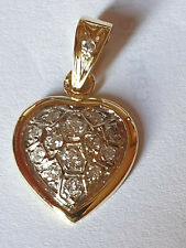 Pendentif  coeur OR 2 TONS 18 CARATS - Diamants