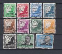 GERMAN REICH 1934 Air Mail Used C46-C56 (Mi.529-539)