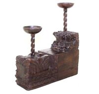 Beautiful Unique Handmade Wooden Candle stand Made From Antique Carved wood #365