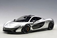 1:18 AUTOart MCLAREN P1 (MATT CHROME) 2013 (COMPOSITE MODEL/FULL OPENINGS)