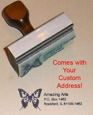 Butterfly Rubber Stamp With Your Custom Address