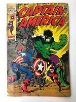 Vintage Captain America No 110 Silver Age Comic 1969