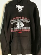 REEBOK Pullover Hoodie NHL Jersey Chicago Blackhawks Team Black sz XL