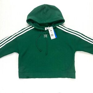 adidas orignals women's green cropped sweatshirt NEW defects size XS long sleeve