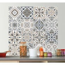 Vintage Tile Pattern Stickers Kitchen, Bathroom, Wall Decal
