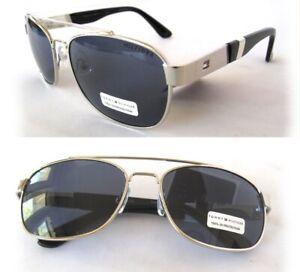 New TOMMY HILFIGER Brendan Mens Sunglasses Silver/Gray $60