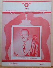 """O"" (Oh!) -1953 sheet music - Pee Wee Hunt photo cover, lovers silhouette"